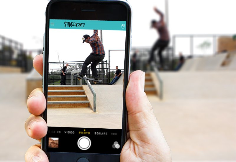 Great skateboarding app in use!